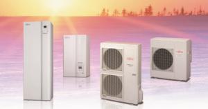 Ogrevalne toplotne črpalke Fujitsu