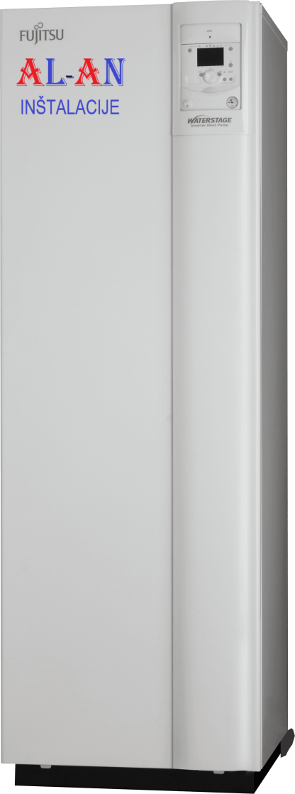 Toplotna črpalka Fujitsu Waterstage WGYK-160DG9/WOYK-112LCTA. Moč gretja 10,1 – 11 kW