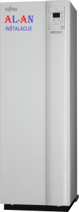 Ogrevalna toplotna črpalka Fujitsu Waterstage WGYK160DG9WOYK160LCTA. Moč gretja 16 - 17 kW