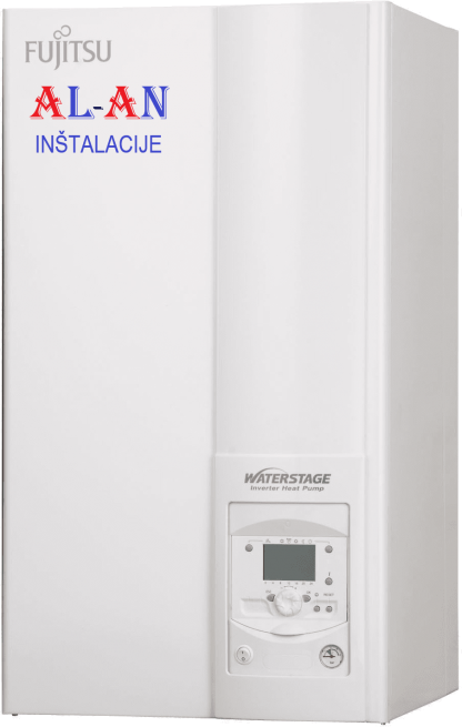Toplotna črpalka Fujitsu Waterstage WSYA100DG6/WOYA100LFTA. Moč gretja 9,1 - 10 kW